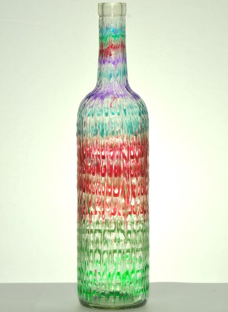 Rainbow Wine Decoration Ideas