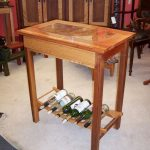 wine rack table