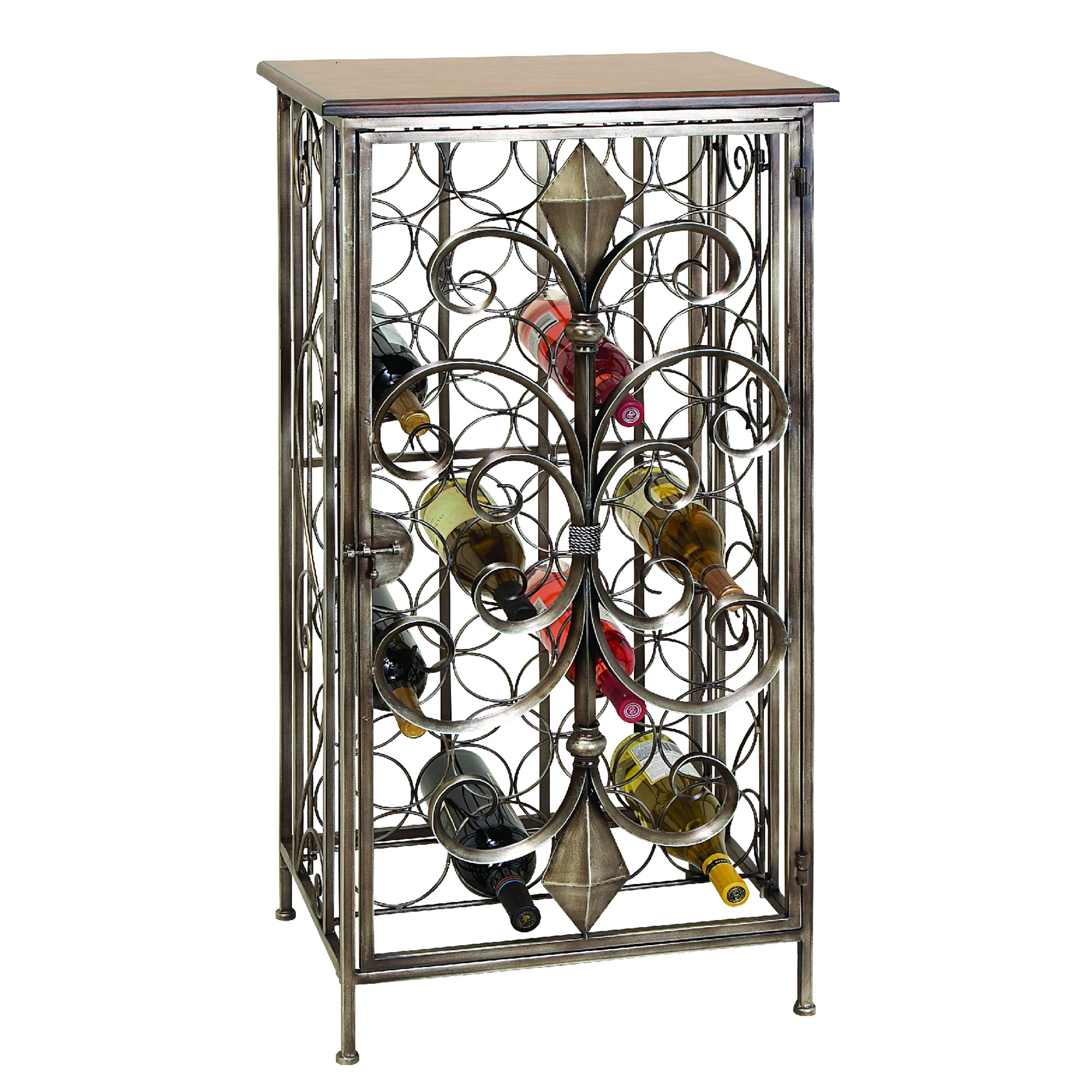 Wrought iron wine rack table a creative mom