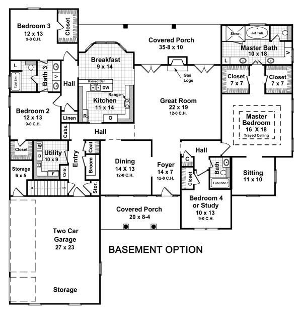 Basement floor plans examples