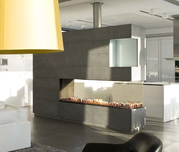 Cool linier fireplace