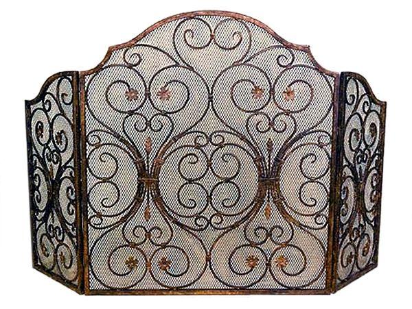 Decorative fireplace screens