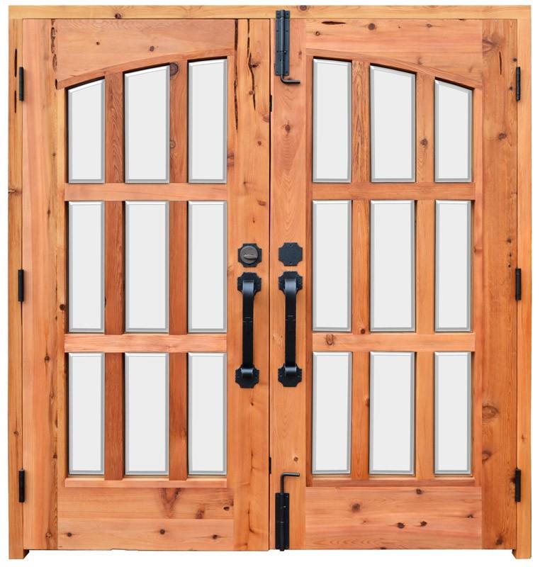 Double french patio doors