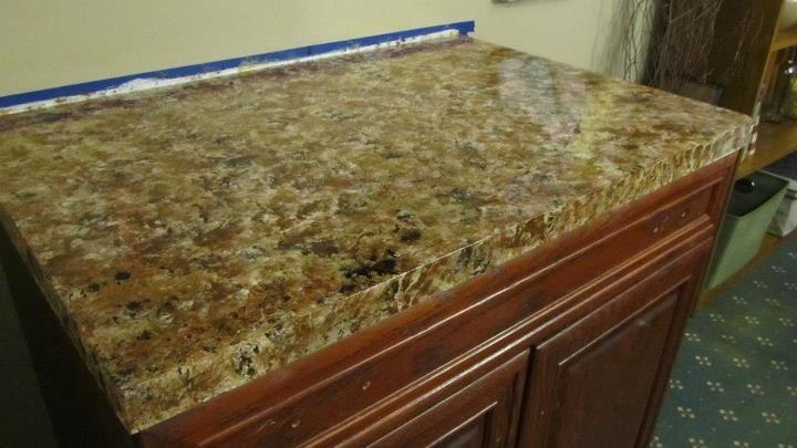 Faux granite countertop diy