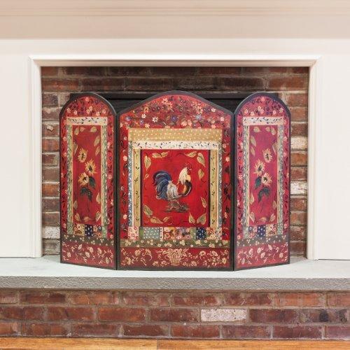 Fireplace decorative screen