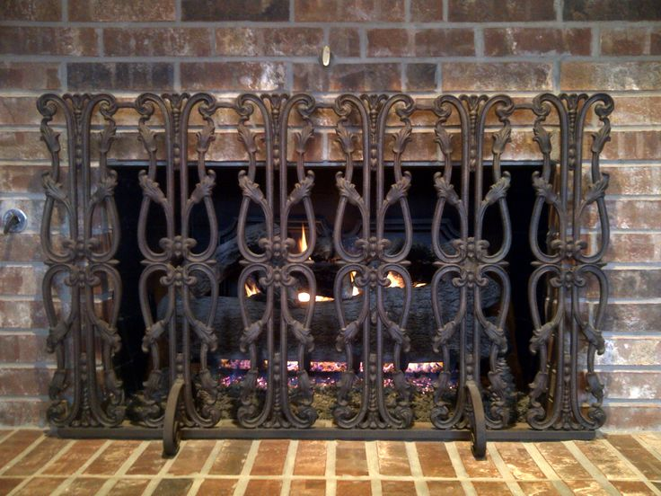 Fireplace decorative screens