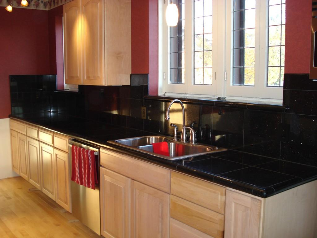 Granite tile countertop kits