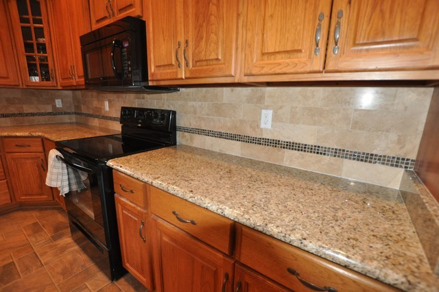Granite tile countertop pictures