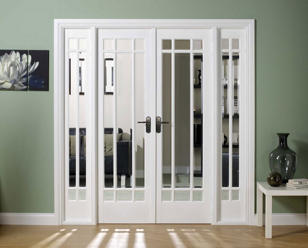 Interior french doors white
