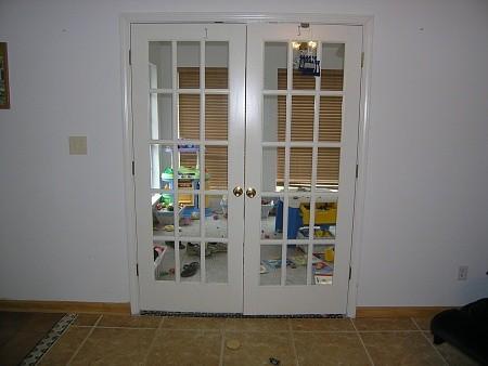 Interior french double doors