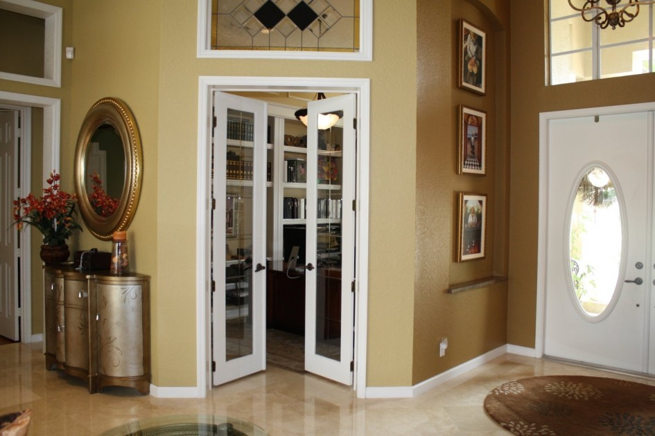 Interior french pocket doors