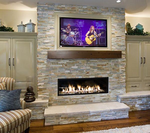 Linier fireplace ideas