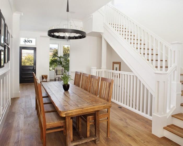 Long narrow dining table