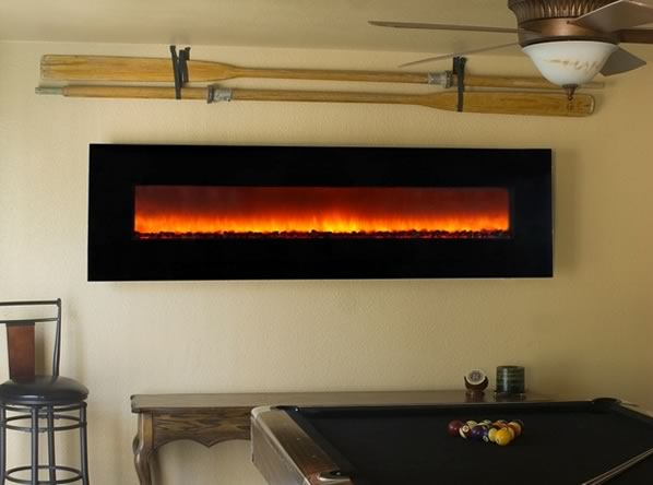 Modern electric fireplaces ideas
