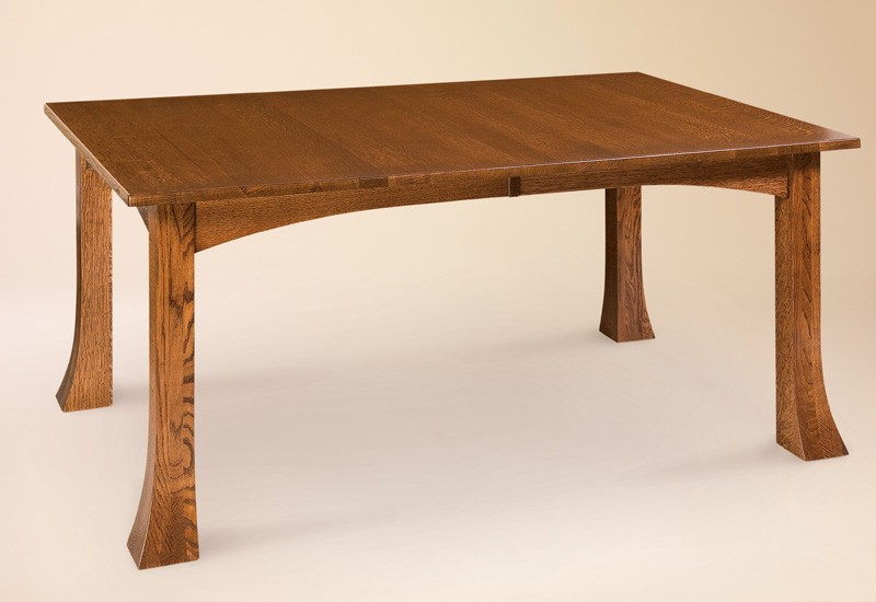 Narrow dining table with leaves