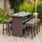 Outdoor Wicker Bar