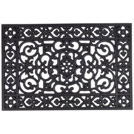 Rubber door mat wall art