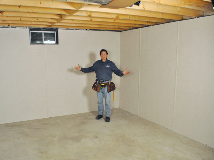 Tips basement wall panels