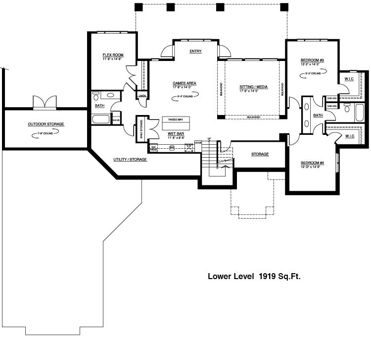 Walk out basement floor plans