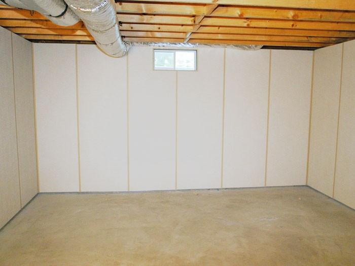 Waterproof basement wall panels