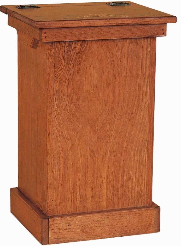 Wooden kitchen garbage cans 755x1024