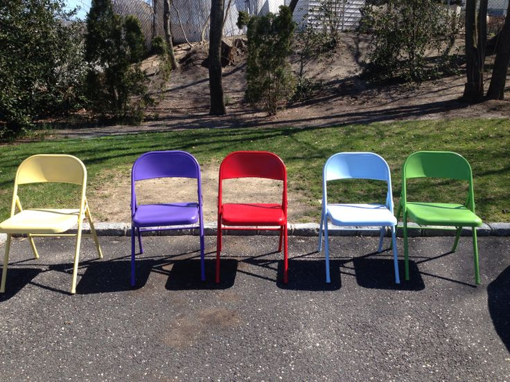 Colored Metal Folding Chairs