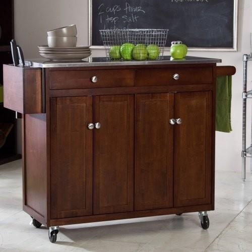 Folding island kitchen cart
