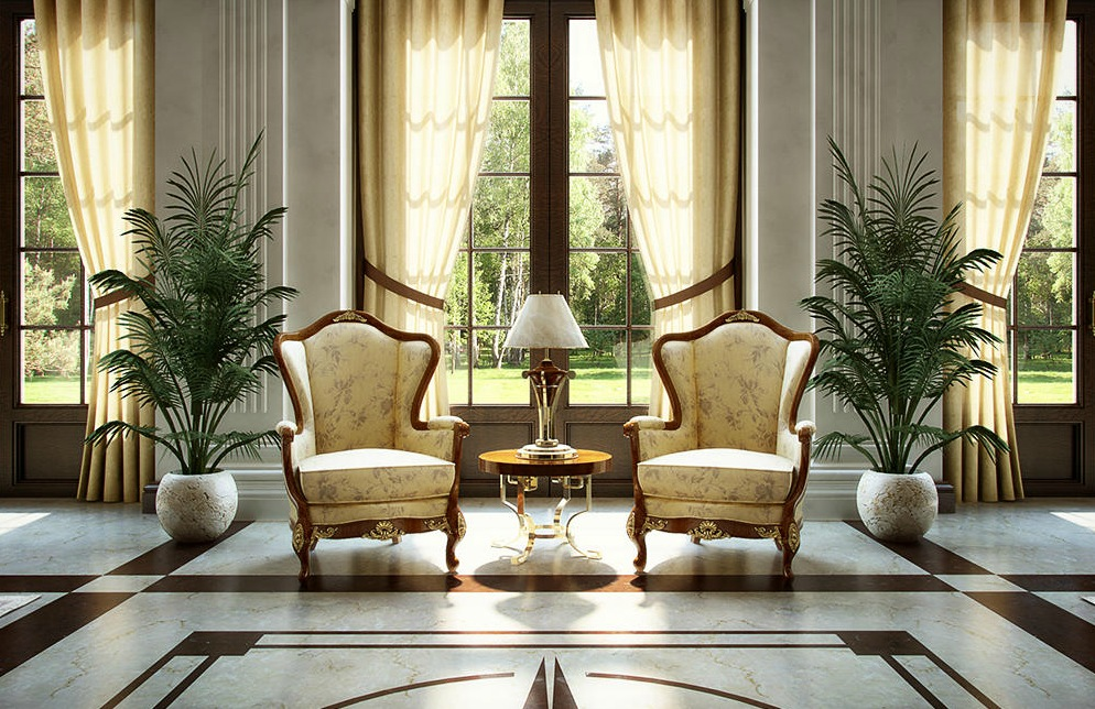 Luxury In Modern Homes With Wingback Chairs