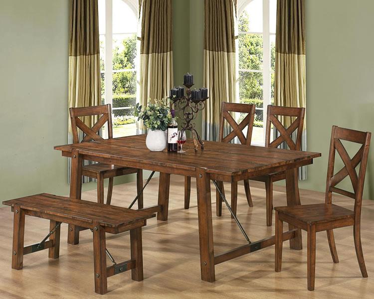 Rustic dining room furniture sets