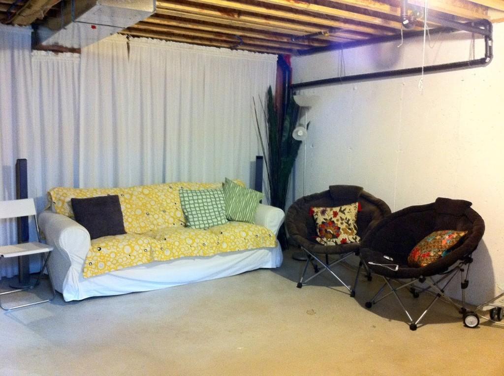 Unfinished basement decorating ideas