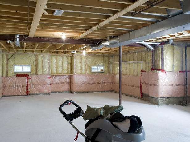 Unfinished basement ideas on a budget