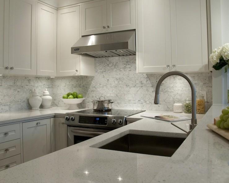 White granite for kitchen countertops