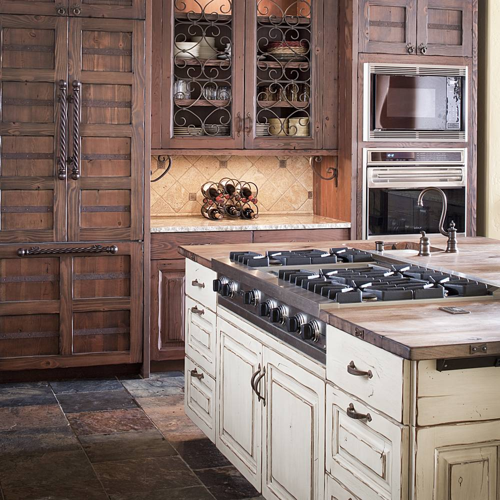 Don't Stress over Distressed Kitchen Cabinets