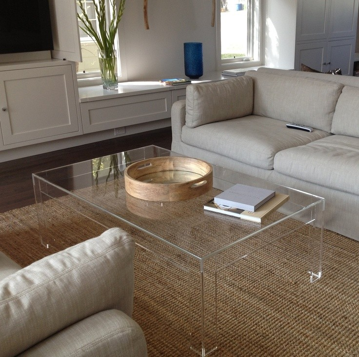 Acrylic clear coffee table