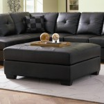 Black Leather Ottoman Coffee Table1