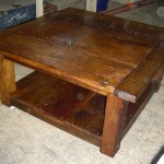 homemade-rustic-coffee-table