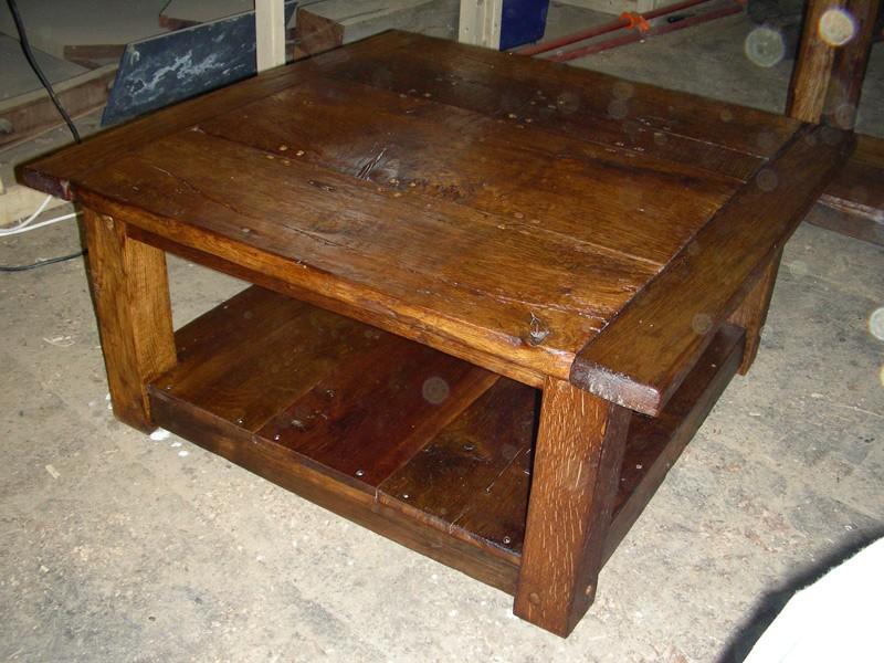 Homemade rustic coffee table