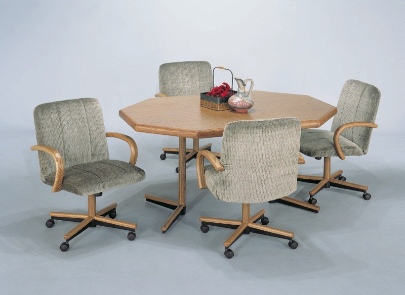 Kitchen table chairs with casters
