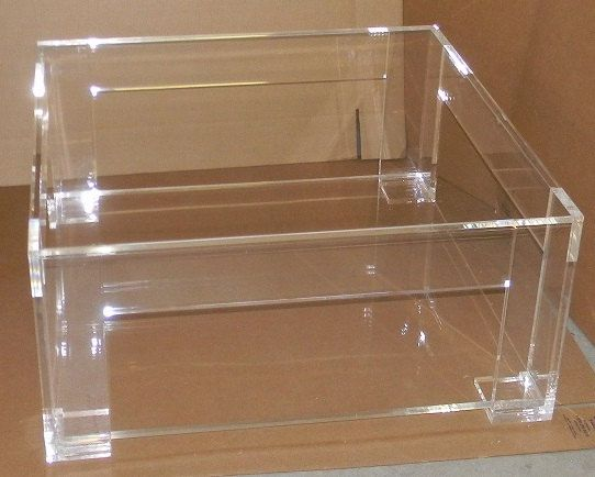 Lucite acrylic coffee table
