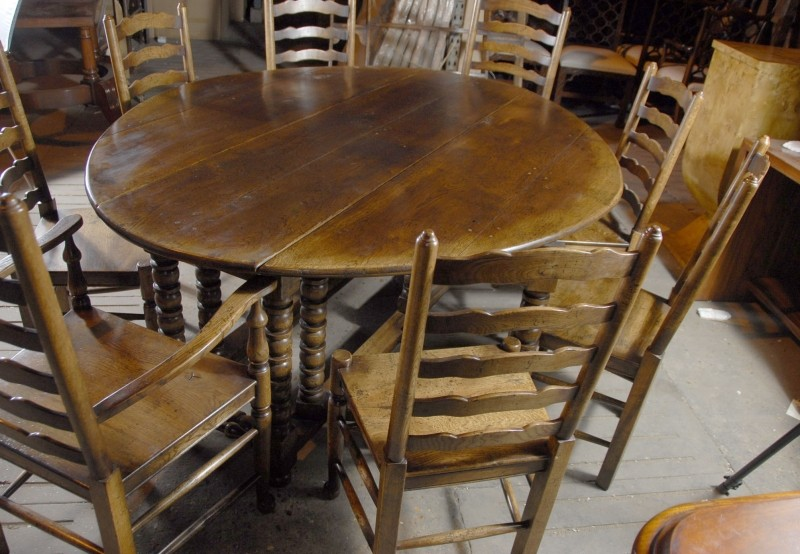 Rustic farmhouse kitchen table