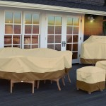 Classic Accessories Veranda Patio Table & Chair Set Cover 70932, Large, Pebble For Rectangular Or Oval Table Up To 108 Inches Long