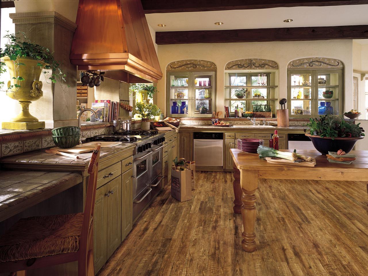 Laminate flooring suitable for kitchen