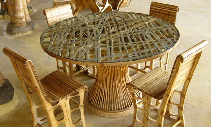 Bamboo chairs wedding
