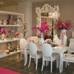 romantic dining room, dining room, romantic design