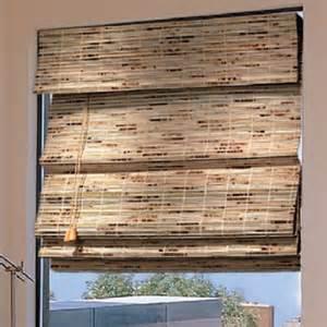 Bamboo roman shades lined