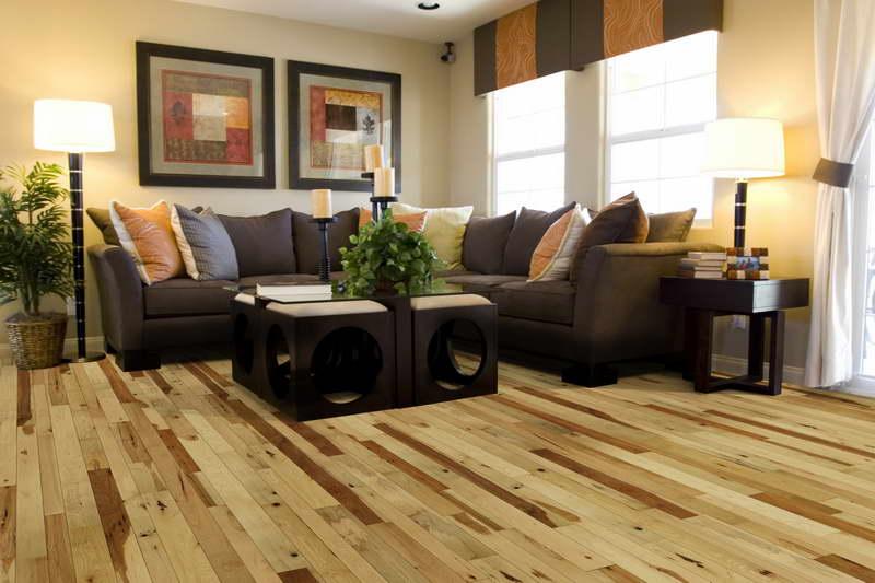 Hickory wood floors pictures