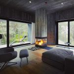 Luxury Wood Corner Fireplace Design