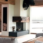 Modern Simple Corner Fireplace Design