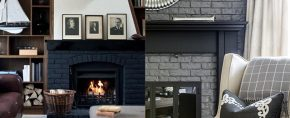 Painted fireplace ideas 290x118