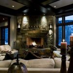 Rustic Corner Fireplace Design